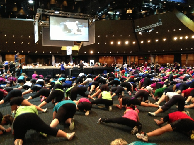 group fitness, free