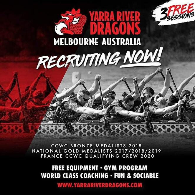 introduction to dragon boat racing 2021, free intro to dragon boat paddling, community event, fun things to do, health and fitness, competition, water sports, dragon boat coaching session, community event, fun things to do, yarra river dragons dragon boat club