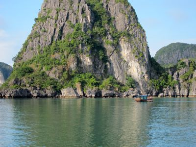 Karst formations at Ha Long Bay, Vietnam