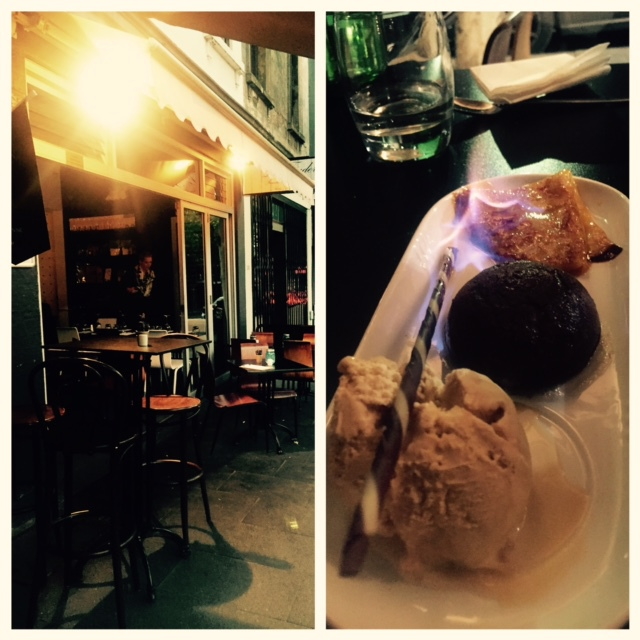Le trader, dessert, french dining