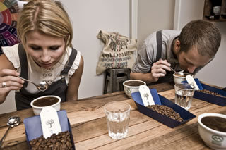 Coffee cupping Market Lane