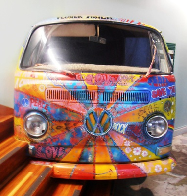 This quirky comby van, which can be seen at the Murwillumbah Visitors' centre, has been been creatively painted by a local artist.
