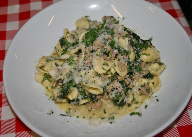 Orecchiette Pasta with pork and duck