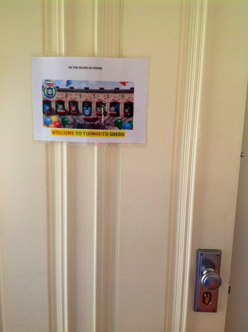 Party, door, Thomas the Tank Engine, poster, fun, kids
