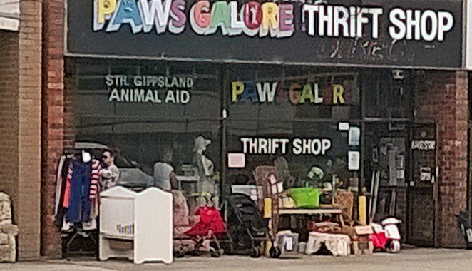 paws galore, south gippsland animal aid, op shops, opportunity shops, thrift shops, charity shops, wonthaggi , melbourne day trips,