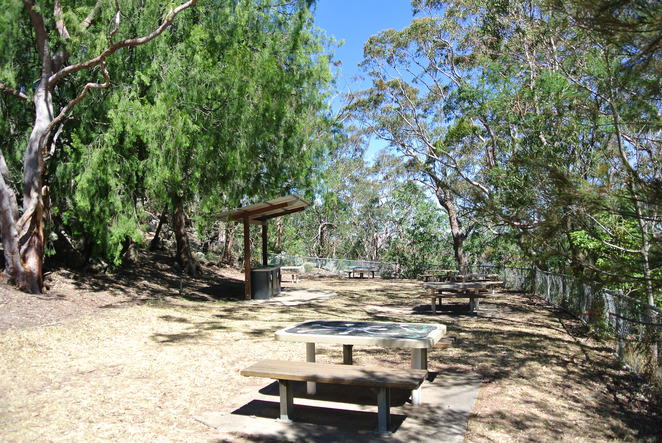 Picnic area with new electric BBQ