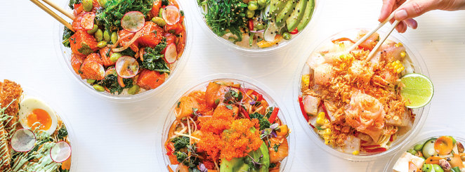 Poke bowls as they appear on FB
