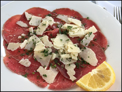 Raw,veal,carpaccio