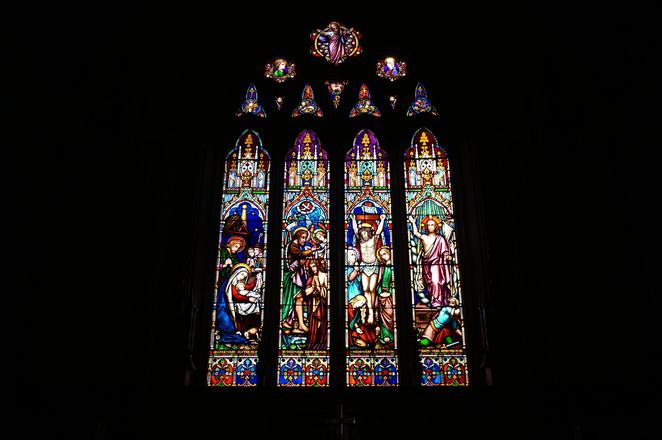 stained glass window st johns toorak