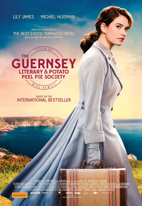 The Guernsey Literary and Potato Peel Pie Society film, The Guernsey Literary and Potato Peel Pie Society movie, The Guernsey Literary and Potato Peel Pie Society film review, The Guernsey Literary and Potato Peel Pie Society movie review, film reviews, movie reviews, period dramas, films adapted from books, British films
