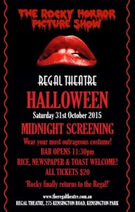 The Rocky Horror Picture Show, Regal Theatre, Halloween
