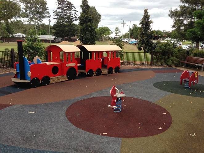 train, play equipment, playground, samford, samford village, john scott park