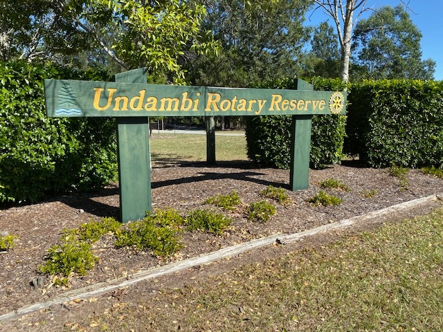 The entrance to Undambi Rotary Reserve off Mt O'Reilly Rd, Samford