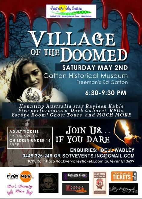 Village of the Doomed, festival, spooky, Gatton Historical Village