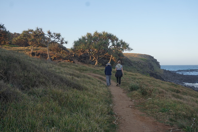 Walking to the headland from Flat Rock