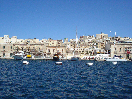 Whitewashed buildings of Malta