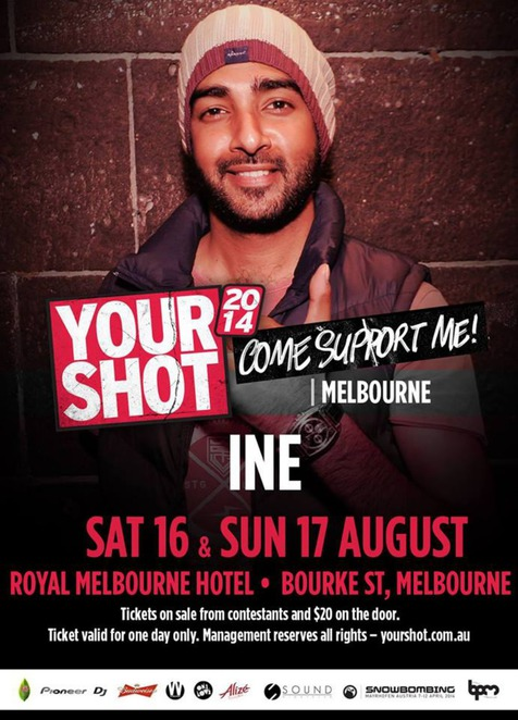 your shot, melbourne, your shot 2014, dj, dj competition,