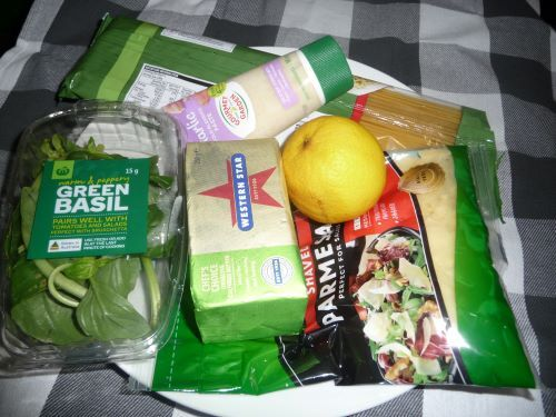 Required grocery items