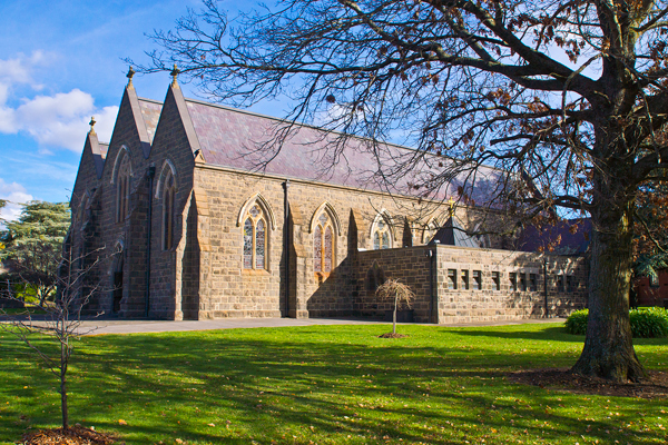 bluestone, church, kyneton, historic, heritage, building