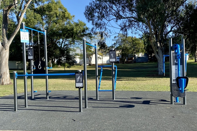 Adults can also have a workout here with two outdoor gyms installed along the paved path