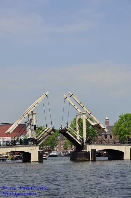 bridge, canal, amsterdam, netherlands