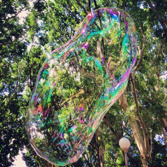 bubble, big, pop, summer, hyde park, sydney, art, quirky