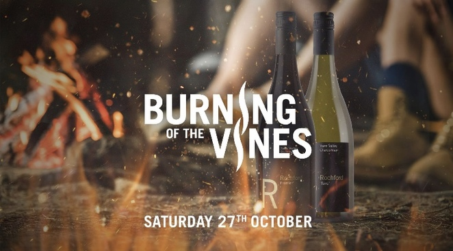 Burning of the vines, yarra valley, rochford wines, harvest, bonfire, winery