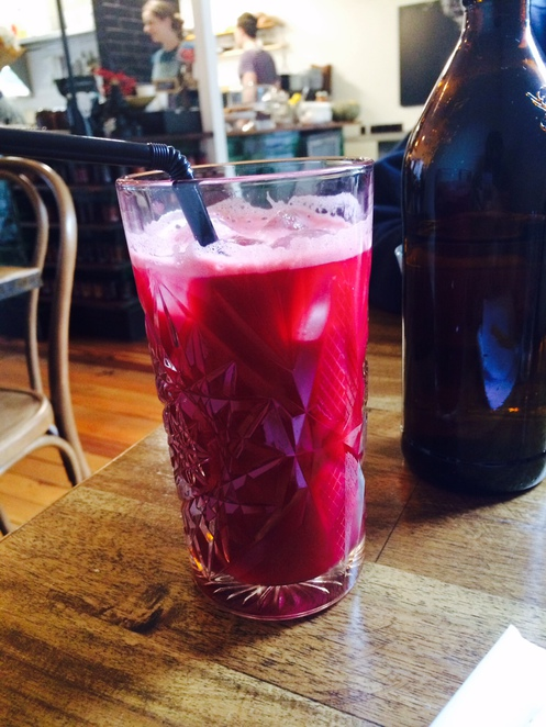 cafe, food, beetroot, apple, ginger, juice, fresh, purple