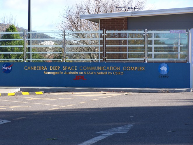 Canberra Deep Space Communications Complex entrance