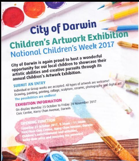 Children's Artwork Exhibition, Darwin, children, artwork, exhibition, free