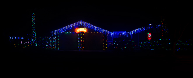christmas lights bracken ridge barbour road santa queensland australia walking nighttime