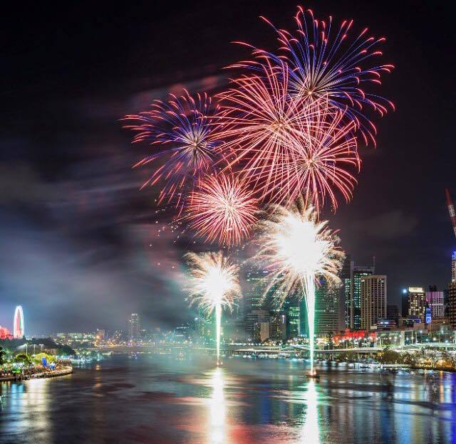 Christmas Fireworks Spectacular At South Bank