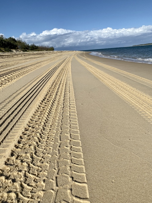 Beach driving is easy in Drop Bear Adventures' fully automatic hire vehicles