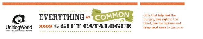 Everything in Common, UnitingWorld, Christmas gifts