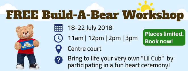 free build a bear workshop, community event, fun things to do, fun for kids, school holiday activity, eastwood shopping centre sydney, teddy bear, lil cub, furry friend, dolls clothing, kid friendly