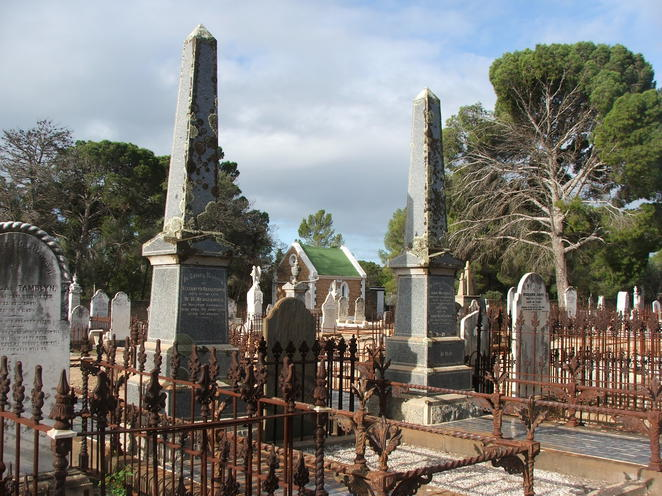 graves, grave-sites, tombstones, monuments, Moonta Cemetery