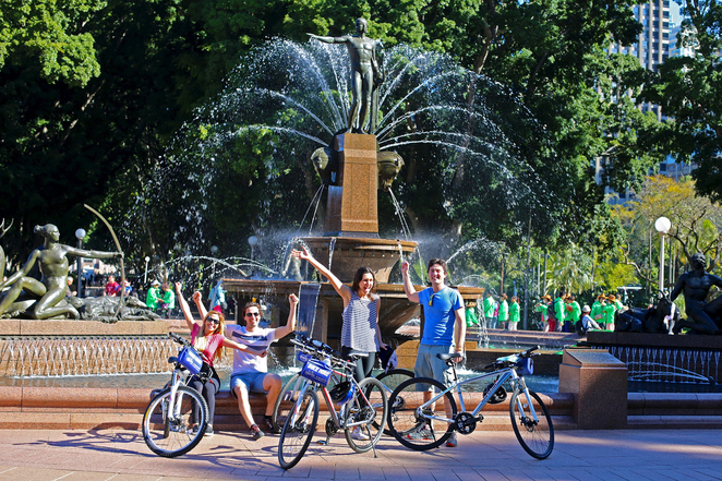 Hyde Park Sydney by Bicycle, Sydney Bike Tours - See Hyde Park, See the city by bike.