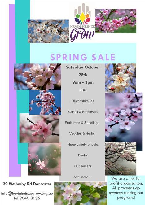 kevin heinze grow, spring fair, spring sale, plants, gardening, green thumb, gardener, bbq, devonshire tea, cakes and preserves, fruit trees, seedlings, veggies and herbs, pots, books, cut flowers, community event, fun things to do, green thumbs. plant food