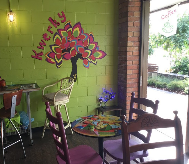 Kwerky Cafe, Beerwah, Kwerky Coffee, Crochet, Lunch, Breakfast, Coffee, Tea, Family Friendly, Notes on Canvas