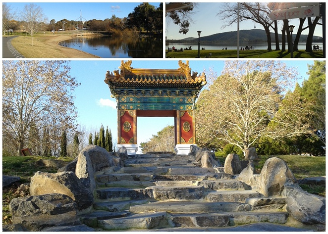 lake burley griffin cycle loop, western loop, chinese beijing gardens, snapper on the lake, southern cross yacht club, lake burley griffin, canberra, ACT,