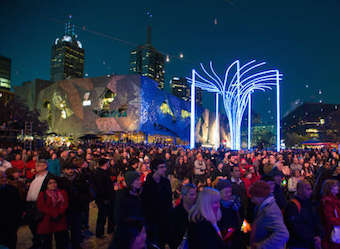 Light in Winter, Federation Square