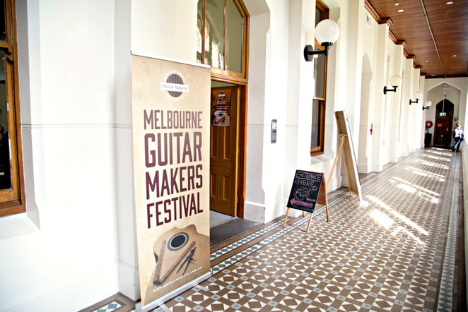 melbourne guitar makers festival 2015, building a guitar, workshop, guitar display, guitar showcase, abbotsford convent, handcrafted guitar, handmade guitar, shopping, music, musicians