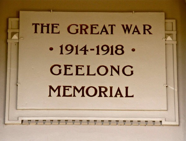 Memorial Stone, Geelong Peace Memorial