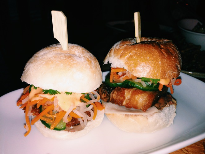 ms gs, mini banh mi, ms gs mini burger, pork belly, chicken katsu burger
