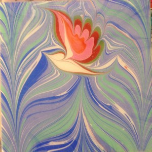 A beautiful example of the ancient Turkish art form, Ebru.This image is from the Perth City Farm website.