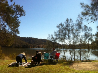 The riverside picnic spot with open water views