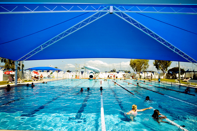 Heated and indoor pools in brisbane brisbane for Qut garden pool