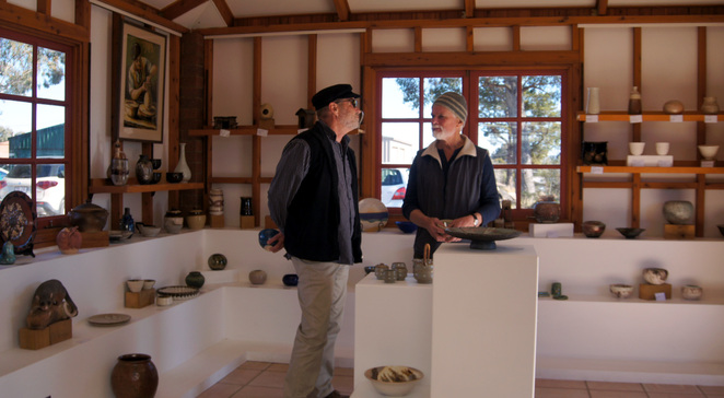Inside the Earth and Fire Gallery at the Stanthorpe Pottery Club