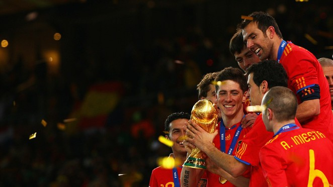 Spain celebrates 2010 FIFA World Cup win