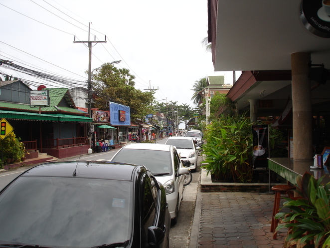 The local side street